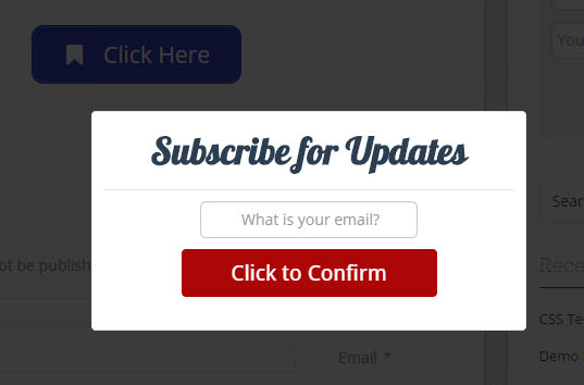 PopUp mit OptinSkin Newsletter Anmeldeformular mit WP Ultimate Shortcodes
