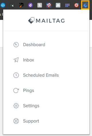 Mailtag Extension Screenshot