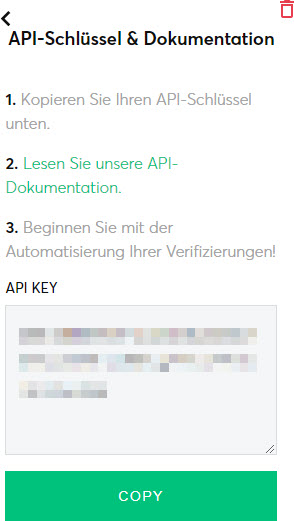 The Checker API Key und Dokumentation