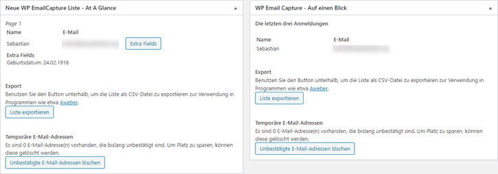 WP Email Capture Dashboard